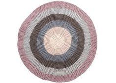tapis rond pastel au crochet 120cm Sebra   shop pour enfants Le Petit Zèbre