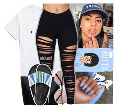 """""""yo side of the bed x trey songz"""" by lamamig ❤ liked on Polyvore featuring Ralph Lauren, Smythson and Aéropostale"""