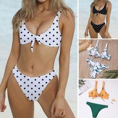 Purchase Women Retro Bandage High Waisted Bikini Halter Neck Bikini Two Piece Swimsuit from Yuanzala on OpenSky. Share and compare all Apparel. Vintage Swimsuits, Swimsuits For All, Women's One Piece Swimsuits, Women Swimsuits, Push Up Swimsuit, Halter Bikini, Bikini Tops, Swimming Costume, One Piece Suit