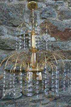 Vintage Crystal French Chandelier Retro by FrenchPastTimes