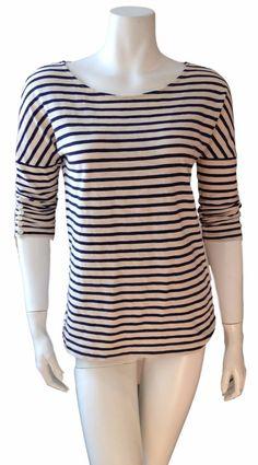 J. Crew J Crew Womens Striped 3/4 Sleeve Cotton Nautical Shirt Blouse Top XXS #JCREW #Blouse