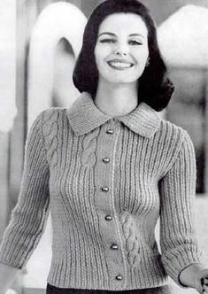 Cardigan Sweater VII, Sizes 12, 14, 16 and 18 | Knitting Patterns