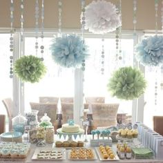 Love the crepe  paper decorations!