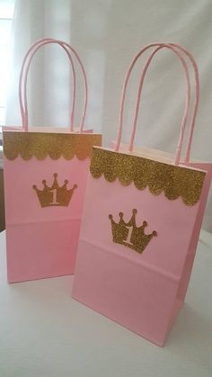 Pink Gold Princess Birthday Invitations OG by Princess Theme Birthday, Princess Birthday Invitations, Gold Birthday Party, Birthday Favors, Baby Birthday, First Birthday Parties, Birthday Decorations, Diy Goodie Bags Birthday, Princess Party Bags