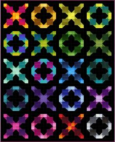 Knots & Crosses quilt pattern by Needle in a Hayes Stack