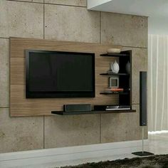 Let us take a look at some of the most inspirational TV wall mount ideas with cabinet and design for your living room. Tv Wall Design, Tv Unit Design, House Design, Deco Tv, Tv Panel, Plafond Design, Tv Wall Decor, Retro Sofa, Tv Furniture