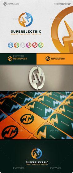 Super Electric  Logo Design Template Vector #logotype Download it here: http://graphicriver.net/item/super-electric-logo/10608356?s_rank=1292?ref=nesto