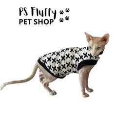 Excited to share this item from my #etsy shop: Sphynx cat clothes | Comfortable sleeveless tops #sphynxcatclothes #sleevelesstops #sphynxclothing #petclothing #catclothing #sphynxclothes #petsupplies #petclothes Sphynx Cat Clothes, Pet Clothes, Cat Skin, Fluffy Animals, Sleeveless Tops, Great Pictures, Pet Shop, French Terry, Cats And Kittens