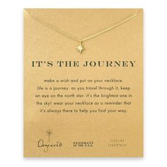 Dogeared Gold It's the Journey Star