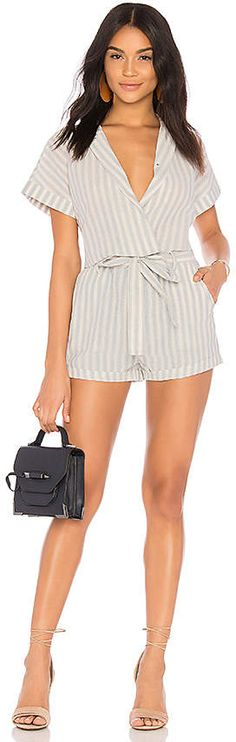 Shop for HEARTLOOM Claire Romper in Powder at REVOLVE. What's In Your Bag, Get The Look, What I Wore, Claire, Outfit Of The Day, Feminine, Rompers, Link, Swimwear