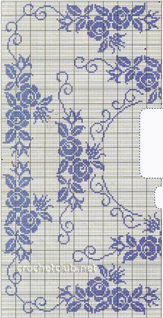 Cross Stitch Bird, Cross Stitch Flowers, Cross Stitching, Cross Stitch Embroidery, Hand Embroidery, Filet Crochet Charts, Crochet Diagram, Crochet Stitches, Crochet Patterns