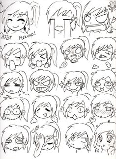 how to draw chibi faces - Google Search
