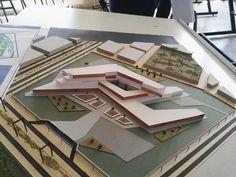 Concept Models Architecture, Maquette Architecture, Conceptual Architecture, Museum Architecture, Futuristic Architecture, School Architecture, Architecture Design, Facade Design, Exterior Design