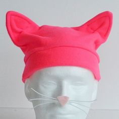 Oh SO going to make this!! 15 Minute Fleece Cat Hat – FREE PATTERN – Orange Bettie