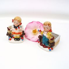 Vintage Herb Pots Occupied Japan Figurines Ceramic by WhimzyThyme