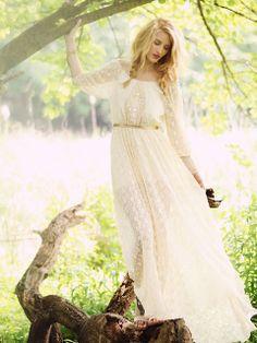 Perfect.  Just stunning. White lace dress.