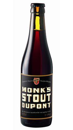 Brasserie Dupont - Monk's Stout. Wanneer je echt van stout houdt! Beer 101, Belgian Beer, Wine And Beer, Food Plating, Beer Bottle, Belgium, Brewing, Ale, Liqueurs