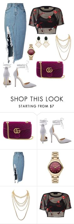 """""""My style"""" by aurebuiss ❤ liked on Polyvore featuring Gucci, storets, Karl Lagerfeld, Charlotte Russe and Marni"""