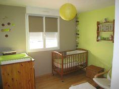 déco chambre bébé vert anis