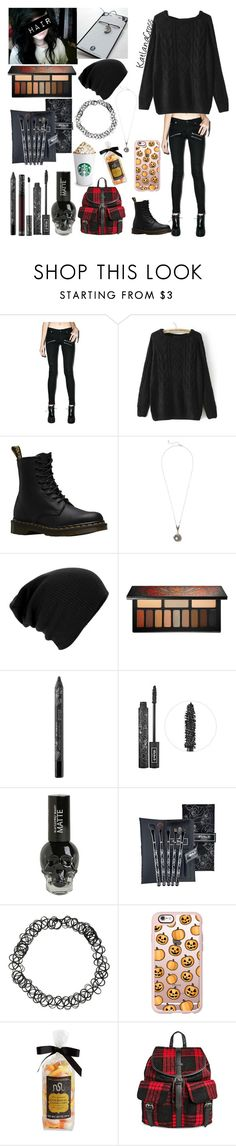 """""""Style #249"""" by katlanacross ❤ liked on Polyvore featuring Cheap Monday, Dr. Martens, Kat Von D, Casetify, Williams-Sonoma and Under One Sky"""