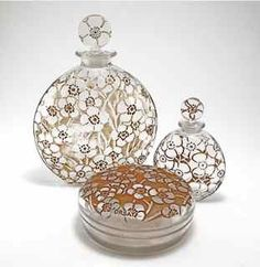 1922 R. Lalique, D'Orsay Perfume Bottle Set
