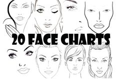 Be Beautiful By Lolie: 20 Face Charts Blank / 20 Portraits Vierges