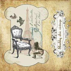 Cartonnette pour dentelle  ou ruban  numérique par Shabbychicvint, €0.99