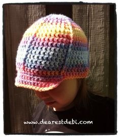 fea5baeb84f Crochet Toddler Ball Cap - Dearest Debi Patterns Fingerless Gloves Crochet  Pattern