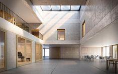 Siegerprojekt «Ida» (Brockmann Stierlin Architekten): Foyer. (Visualisierung: Projektverfasser)