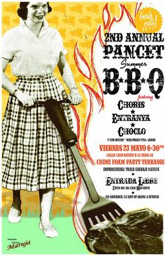 Flyer to promote and celebrate a barbecue's friend. on Behance