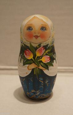 Russian Matryoshka - Wooden Nesting Dolls - 5 Pieces Unique Coloring - Set #9 | eBay