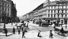 Oktogon - Teréz körút Vintage Photographs, Vintage Images, Old Pictures, Old Photos, Dracula Book, The Old Days, Budapest Hungary, Zeppelin, Historical Photos