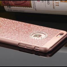 Rhinestone Bling case cover iPhone New Classic Transparent Rhinestone Diamond Soft TPU Bling Case Cover For iPhone. Color is rose gold. Package included: Plastic Case Cover Accessories Phone Cases