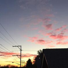 Good Morning November!  #sunrise #clouds #denver #happysunday #fallskies #milehighcity #milehighskies #cowx #5280 #303