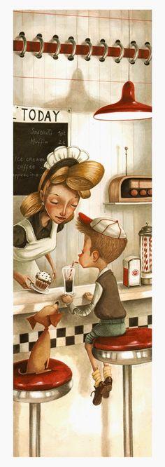Ilustración de Daniela Volpari  Gelats per a  combatre el calor / Helados para combatir el calor / Ice cream to beat the heat