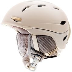 Gorgeous winter helmet - Smith Voyage Snow Helmet $120 Gold details. Yum.