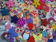 Bumper Pack of 250 Wooden Buttons for Crafting by littlebuttonjar, £7.00