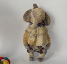 9 inch Clown Elephant with posing arms by Sasha by SashaPokrass