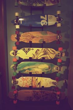 Nice rack! I don't care about the boards, but that rack mount is awesome!  Visit my website at http://www.thebestlongboards.net/