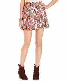 Teen Vogue Skirt, Corduroy Godet Skirt