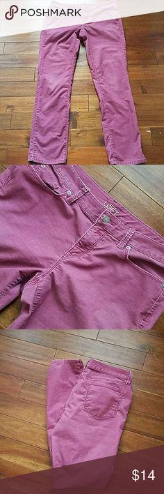 LOFT corduroy Pants Euc. Beautiful mauve color. Size 10 modern straight. LOFT Pants Straight Leg