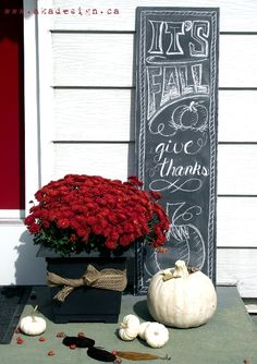 Fall Front Porch | Fall Outdoor Decor: Our Front Porch - AKA Design
