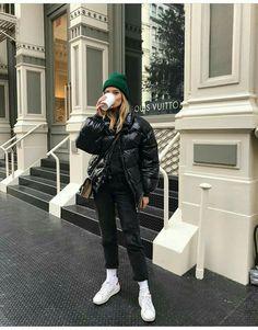 buy online b210c aba5d Brave Soul Ramblin Oversize Padded Jacket Vero Moda Funnel Neck Side Stitch  Jumper Topshop MOTO Black Straight Leg Jeans White Nike Air Force 1  Trainers H M ...