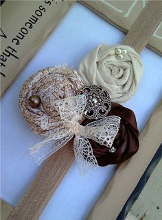 Just beautiful head band, I love the vintage look!