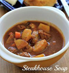 Steakhouse Soup {Steak and Potato Soup}