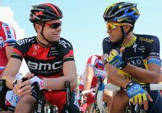 Cadel Evans (BMC) & Alberto Contador (Saxo Tinkoff)