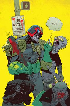 """ryallsfiles: """"Judge Dredd by Jason Latour, now and then. The same basic image seen two ways – from 2012, and the original iteration from 2006. """""""