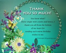 Birthday Thank You Messages, Thank You for Birthday Wishes 10 Birthday Wishes Reply, Thank You For Birthday Wishes, Thank You Wishes, Birthday Thanks, Happy Birthday Wishes Quotes, Thank You Greetings, Birthday Messages, Birthday Greetings, Thank You Quotes For Birthday