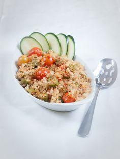 summer okra and quinoa pilaf -Allyson Kramer