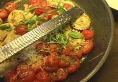 Ravioli mit Spinat-Schafskäse-Füllung